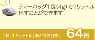 1日(1.5リットル)あたりの目安:65円