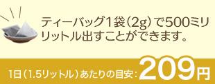 1日(1.5リットル)あたりの目安:194円